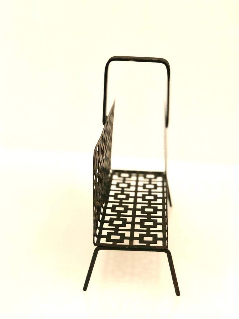 Midcentury Perforated Metal Letter Holder In Good Condition For Sale In San Diego, CA