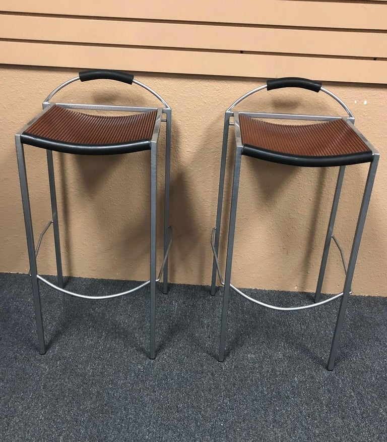Post-Modern Pair of Sgabello Stools by Maurizio Peregalli for Zeus For Sale