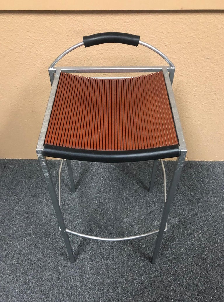 Pair of Sgabello Stools by Maurizio Peregalli for Zeus In Good Condition For Sale In San Diego, CA