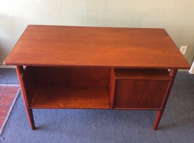 Danish Modern Three-Drawer Floating Top Teak Desk For Sale 1