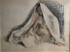 Original Charcoal & Pastel Drawing by Francisco Zuniga