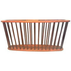 Midcentury Solid Walnut X Large Magazine Rack by Arthur Umanoff