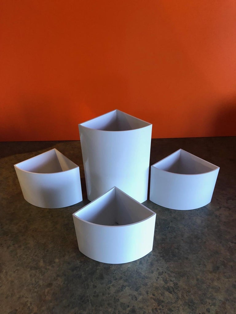 Set of Four Plastic Vases/Containers by jacques bedat for Georg Jensen In Good Condition For Sale In San Diego, CA