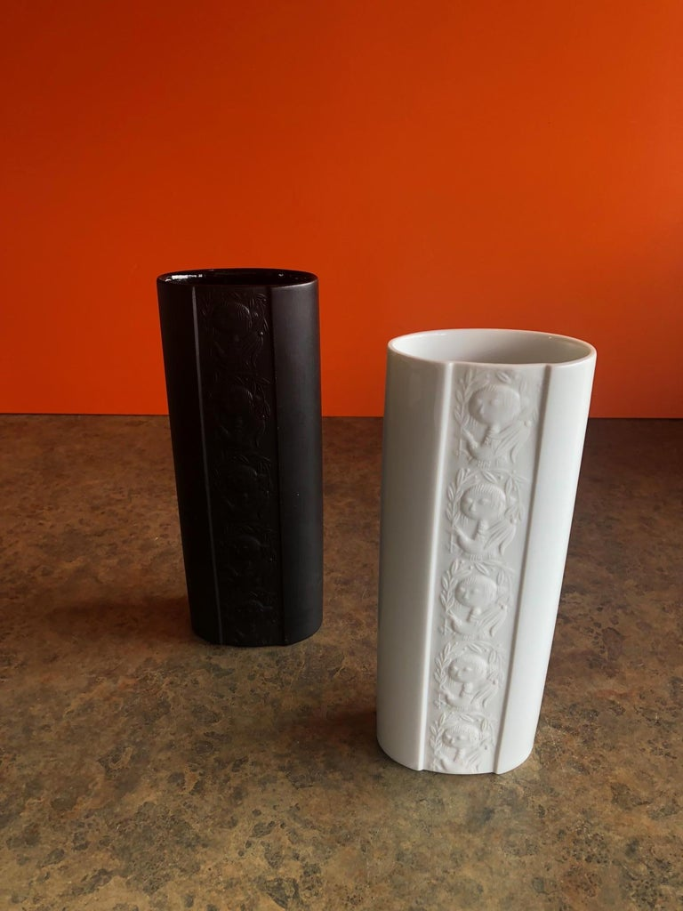Mid-Century Modern Pair of Studio Line Vases by Bjorn Wiinblad for Rosenthal For Sale