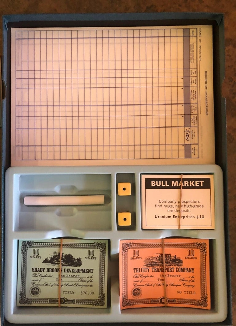 American Midcentury Stocks and Bonds Board Game by 3M For Sale