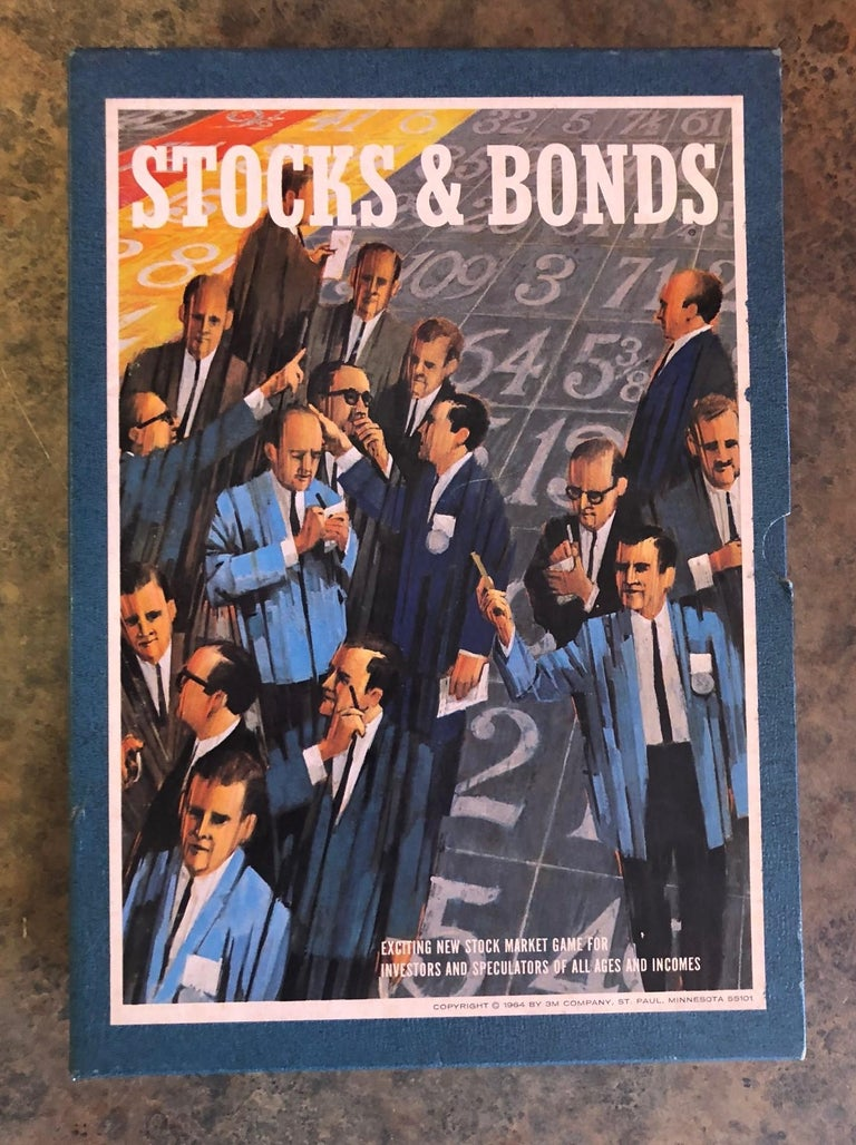 Midcentury Stocks and Bonds Board Game by 3M For Sale 3