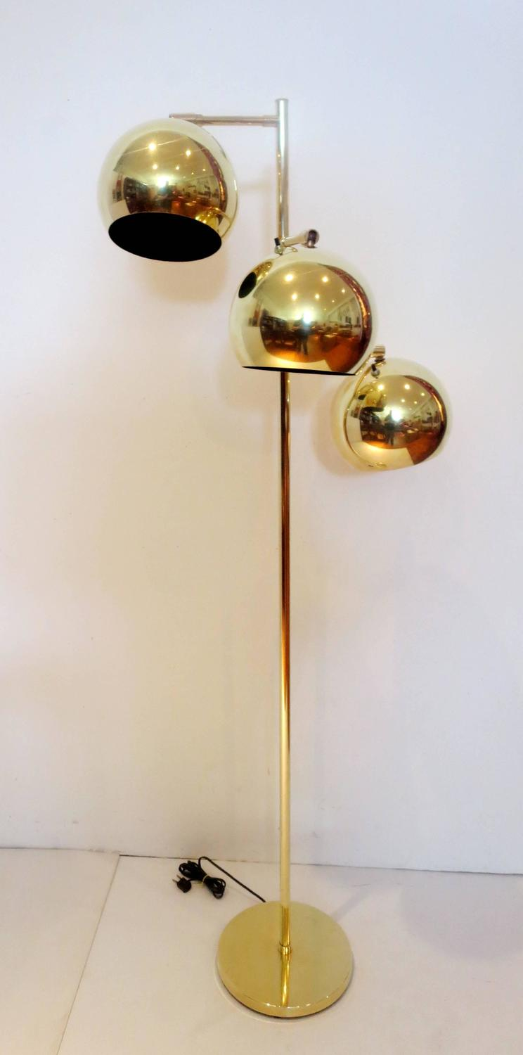 1970s koch and lowy polished brass three tier for 3 tier floor lamp