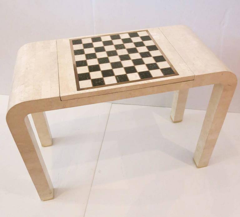 Tessellated Stone Chess Backgammon Console Table By Maitland Smith 2