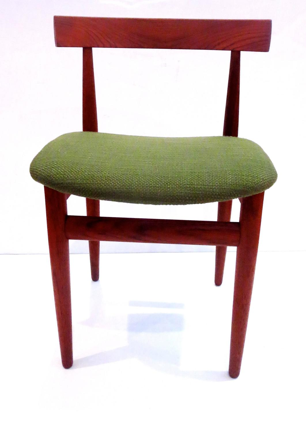 1950s danish modern solid teak side chair design by hans olsen for