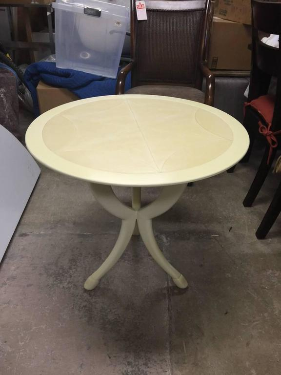 American Pimlico End Table by Ferrell & Mittman with Calf Skin Top For Sale