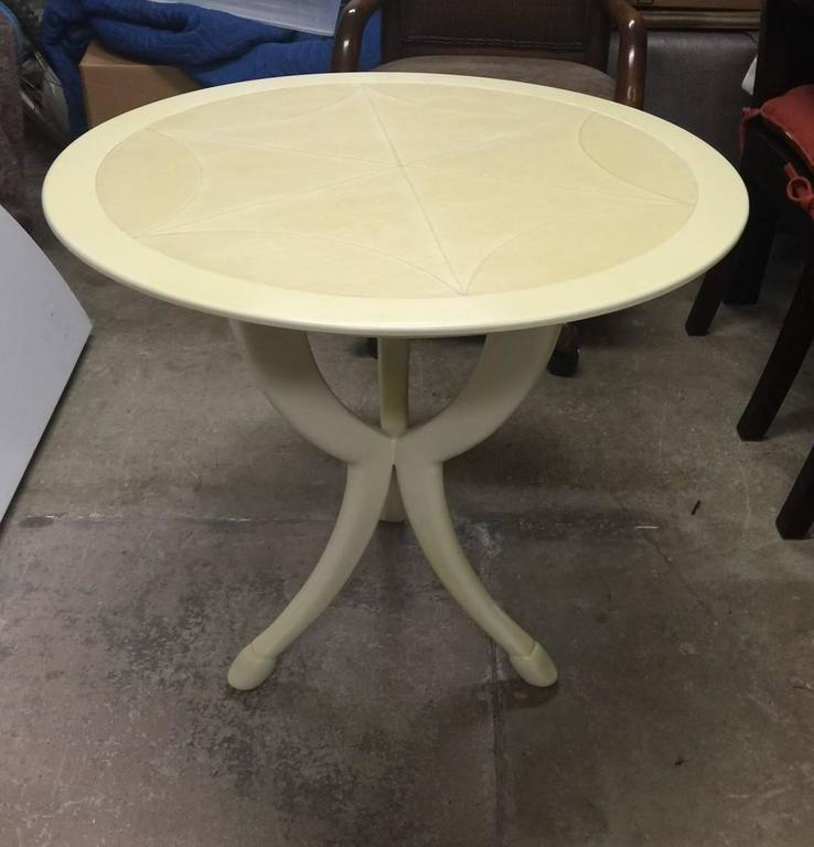 Pimlico end table designed by Roger Thomas and produced by Ferrell & Mittman. Tabletop is 28