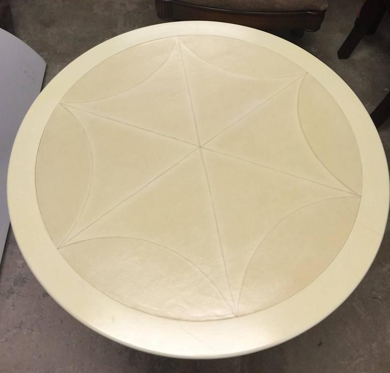 Pimlico End Table by Ferrell & Mittman with Calf Skin Top In Excellent Condition For Sale In San Diego, CA