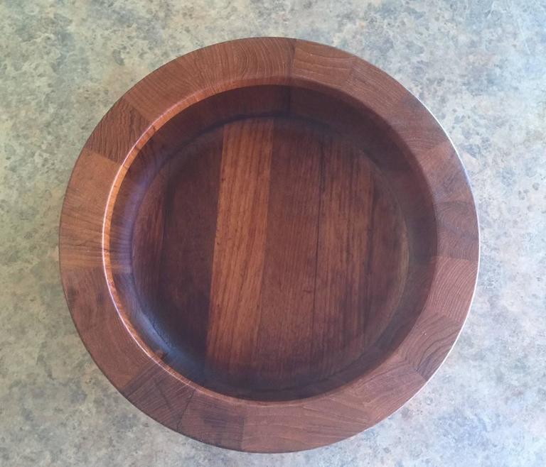 Mid-Century Modern Mid-Century Staved Teak Bowl by Jens Quistgaard For Sale