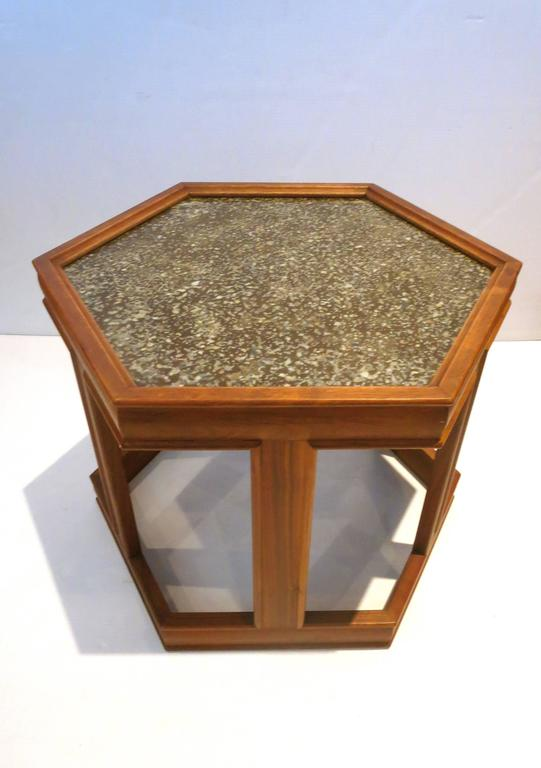 Mid Century Modern Mid Century American Hexagon End Table Design By John  Keal For