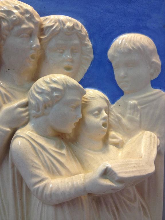 High Relief Neoclassical Della Robbia Plaque For Sale At