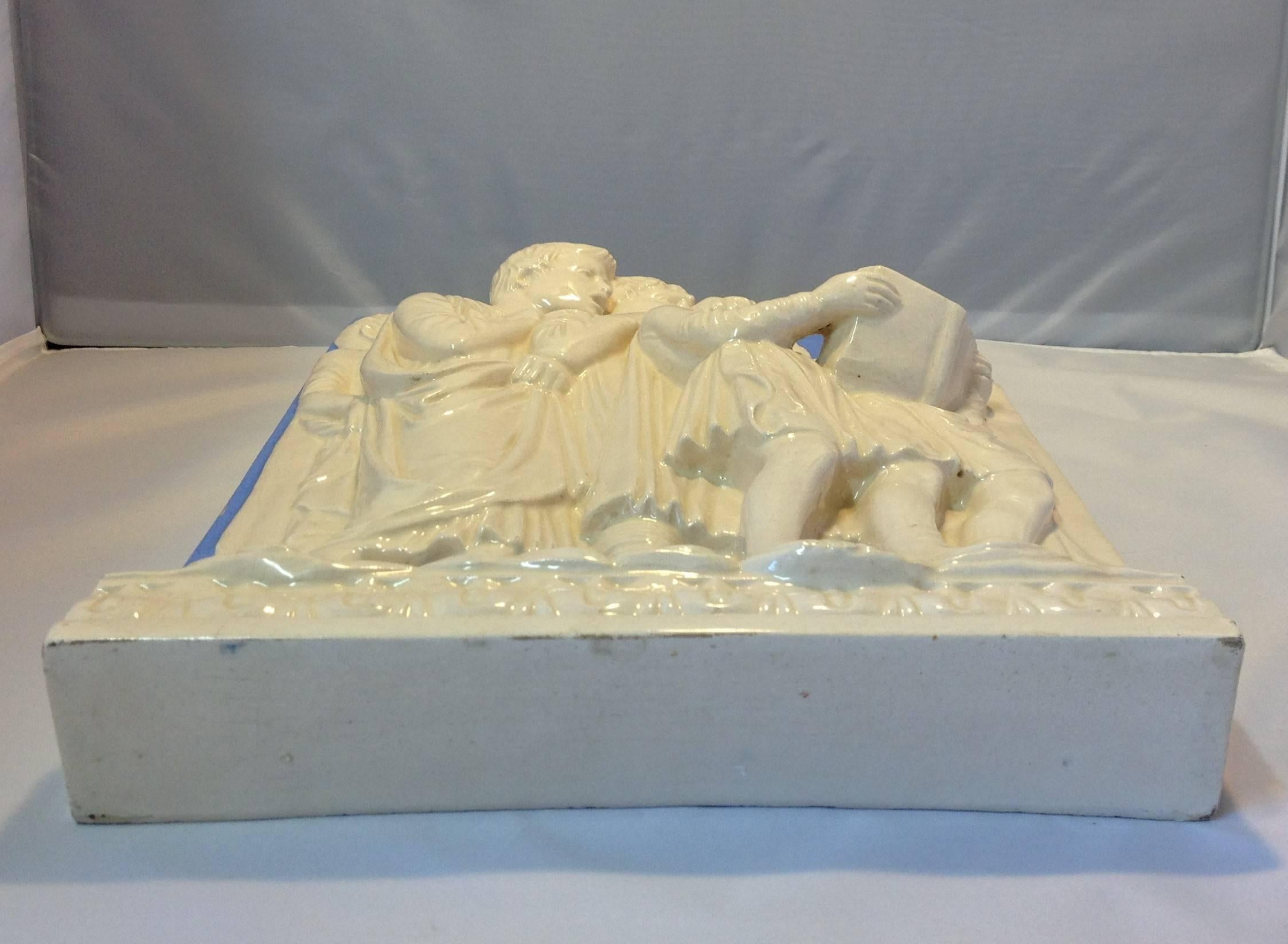 High Relief Neoclassical Della Robbia Plaque For Sale at 1stdibs
