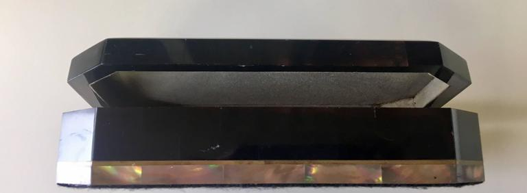 American Faux Tessellated Tortoiseshell Mother-of-Pearl Jewelry Box by Maitland-Smith For Sale