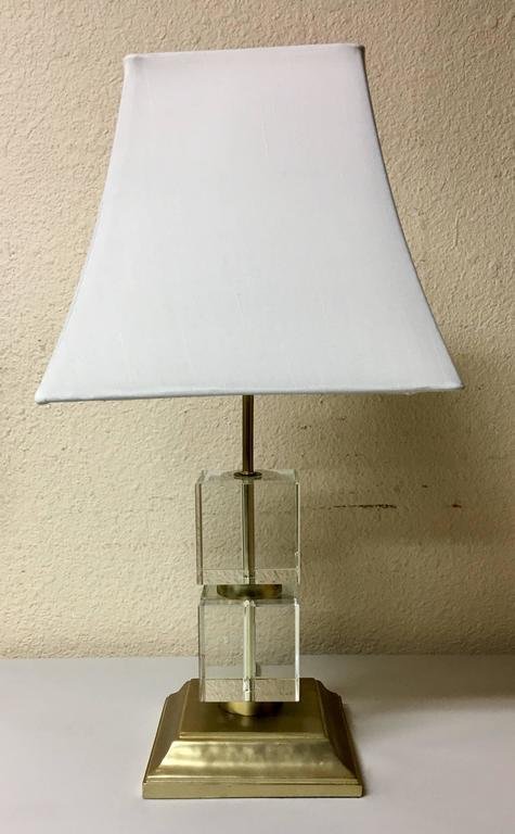 """""""Perfect Pieces"""" Contemporary Cubed Crystal Table Lamp by ..."""