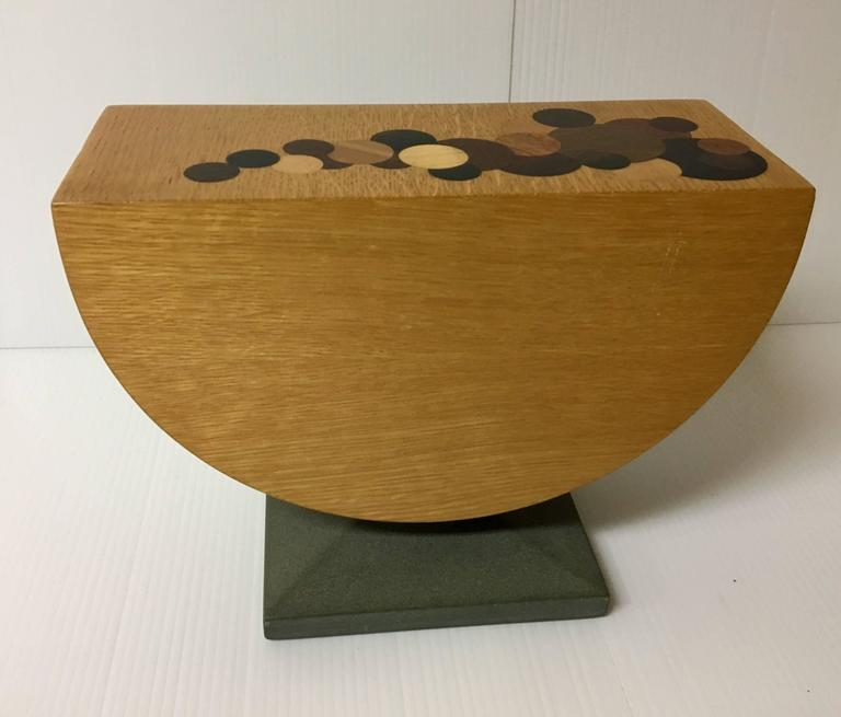 American Handmade Mixed Woods And Slate Base Tabletop Jewelry Box For Sale