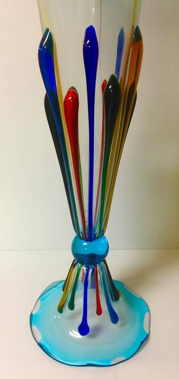 Extra Tall Centerpiece Vases : Magnificent extra tall italian murano glass vase by danilo