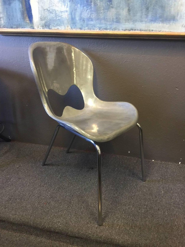 Late 20th Century Pair of Stainless Steel Chairs by Karim Rashid for Umbra For Sale