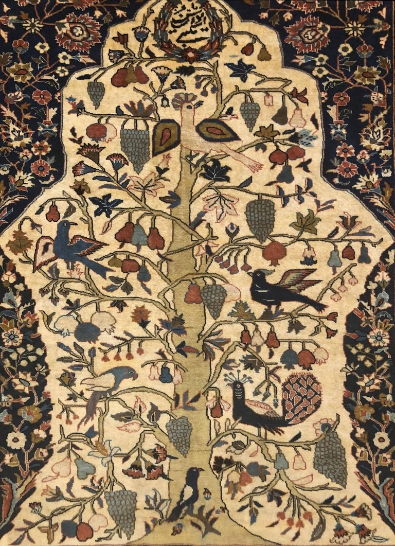 Persian Tree of Life Quchan Rug 3