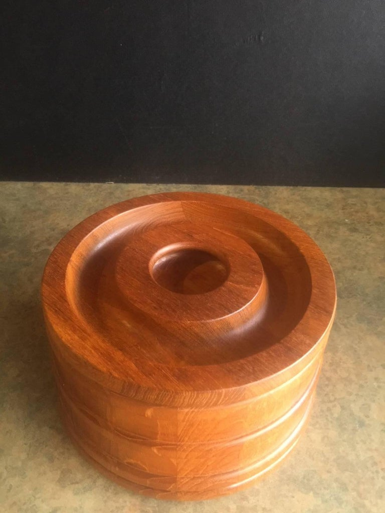 20th Century Danish Staved Teak Banded Ice Bucket by Jens Quistgaard for Dansk IHQ For Sale