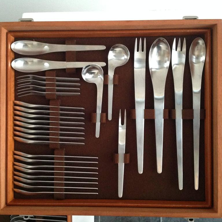 Arne jacobsen designed flatware for eight made by a michelsen in very good cond at 1stdibs - Arne jacobsen flatware ...