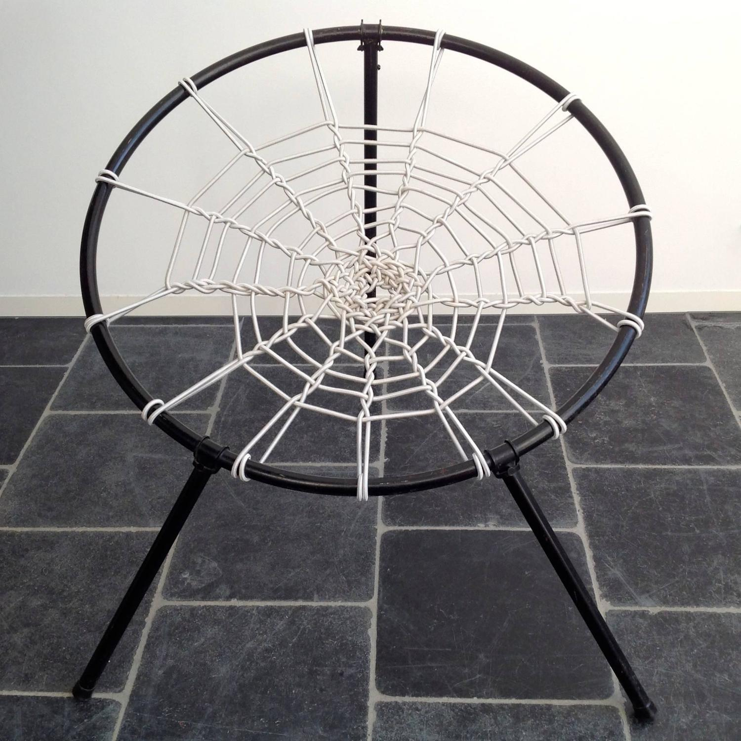 "Original, First Edition Spider Web Folding Chairs By ""PLAN"