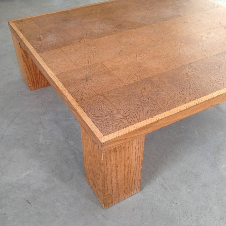 Elegant Coffee Table In Solid Oak Block Wood By Emiel