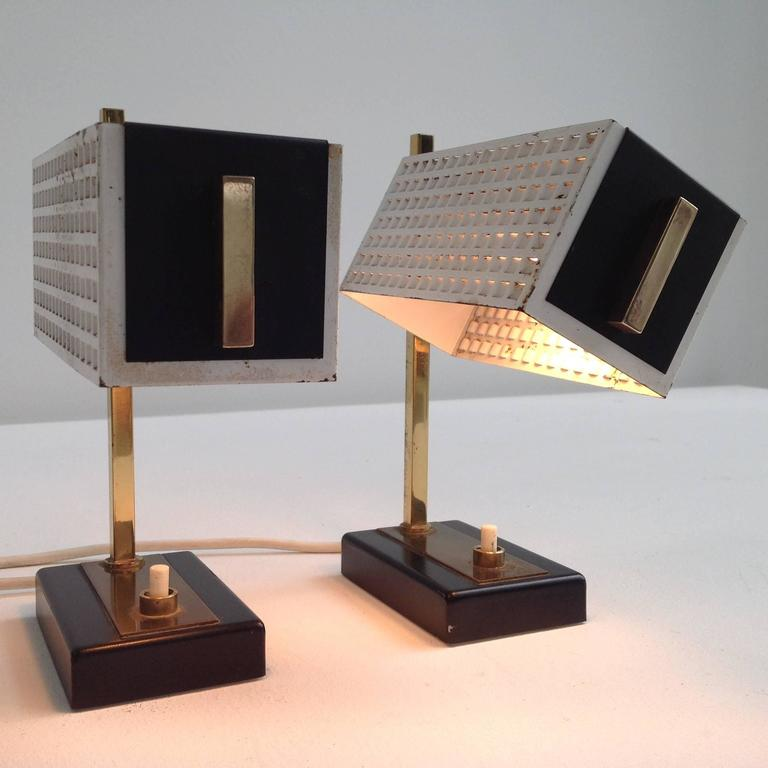 Two small and very nice night table lamps in the style of for Nice table styles