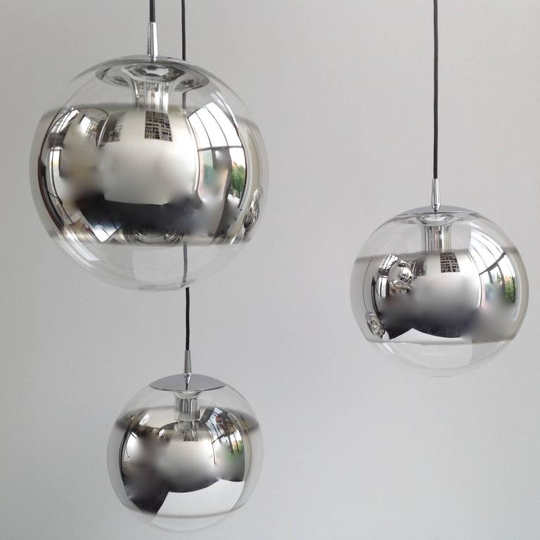 Three Amazing Glass Globes with Integrated Mirror, Anno, 1960 2