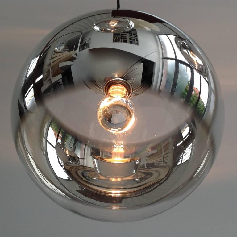 Three Amazing Glass Globes with Integrated Mirror, Anno, 1960 3
