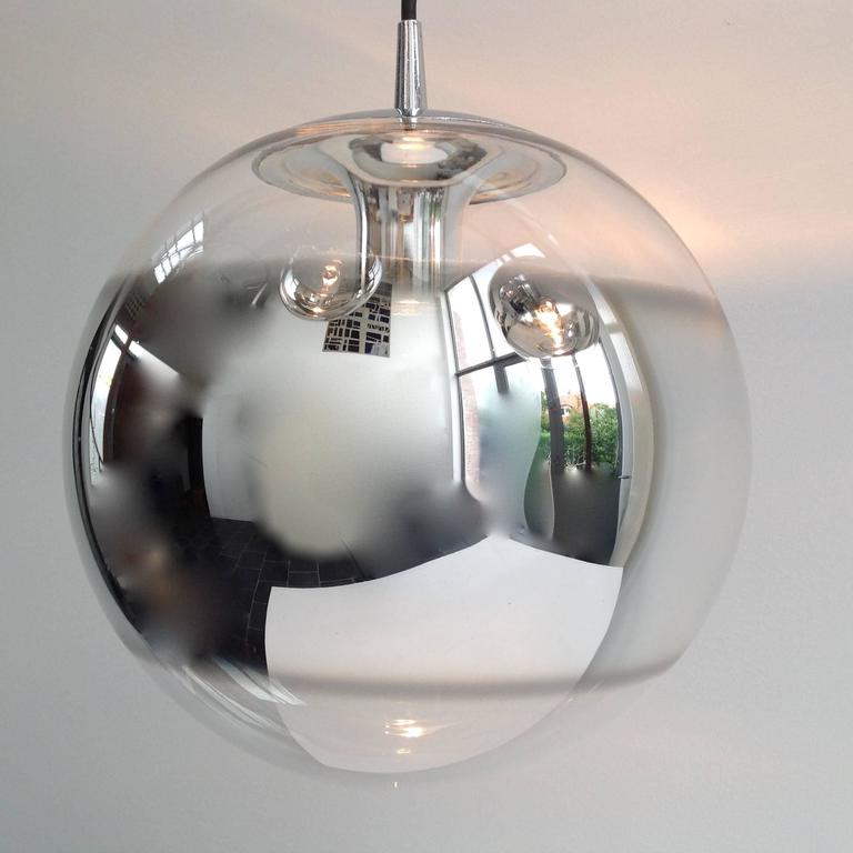 Three Amazing Glass Globes with Integrated Mirror, Anno, 1960 5