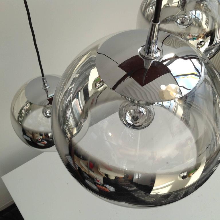 Three Amazing Glass Globes with Integrated Mirror, Anno, 1960 7