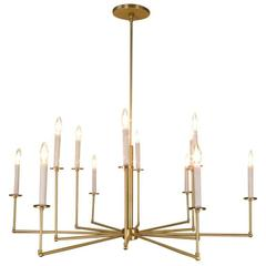 12 Light Brass Chandelier