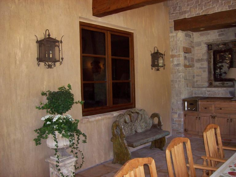 Contemporary Exterior Iron Wall Mount  For Sale