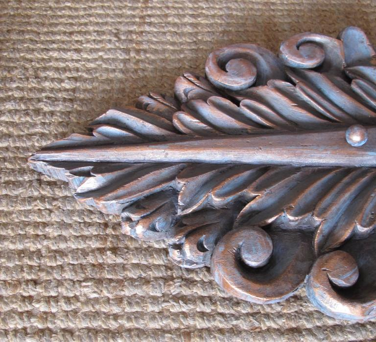 American Pair of Hand-Carved Sconces For Sale