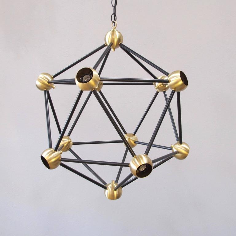 Contemporary ON SALE!  Black and Brass Pendant Light For Sale