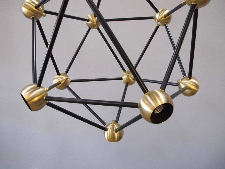 ON SALE!  Black and Brass Pendant Light For Sale 1