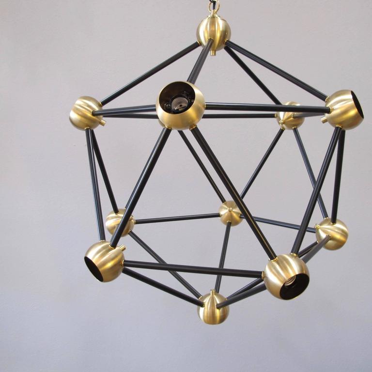 ON SALE!  Black and Brass Pendant Light For Sale 2