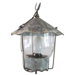 Set of Three Mini Galvanized Lanterns