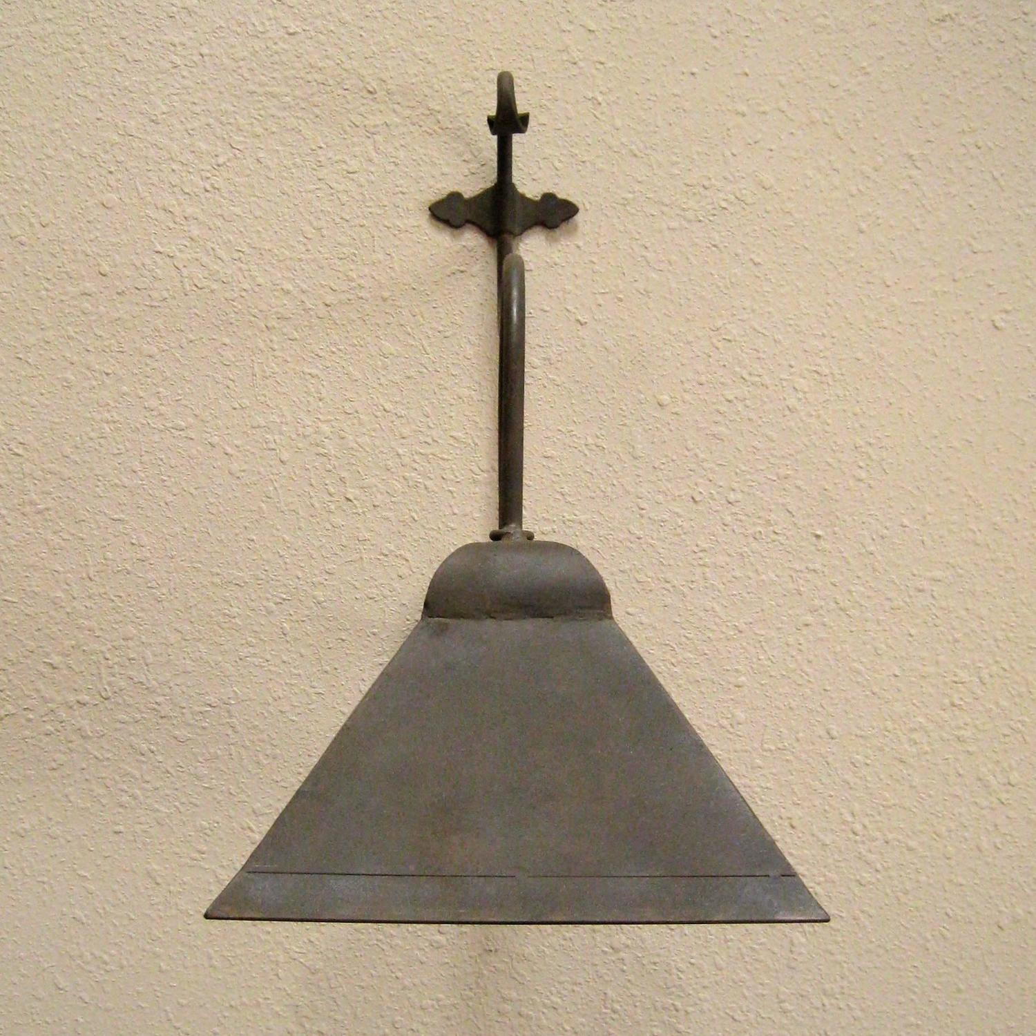 Hooded Led Wall Ground Light: Iron Exterior Hooded Wall Sconce For Sale At 1stdibs