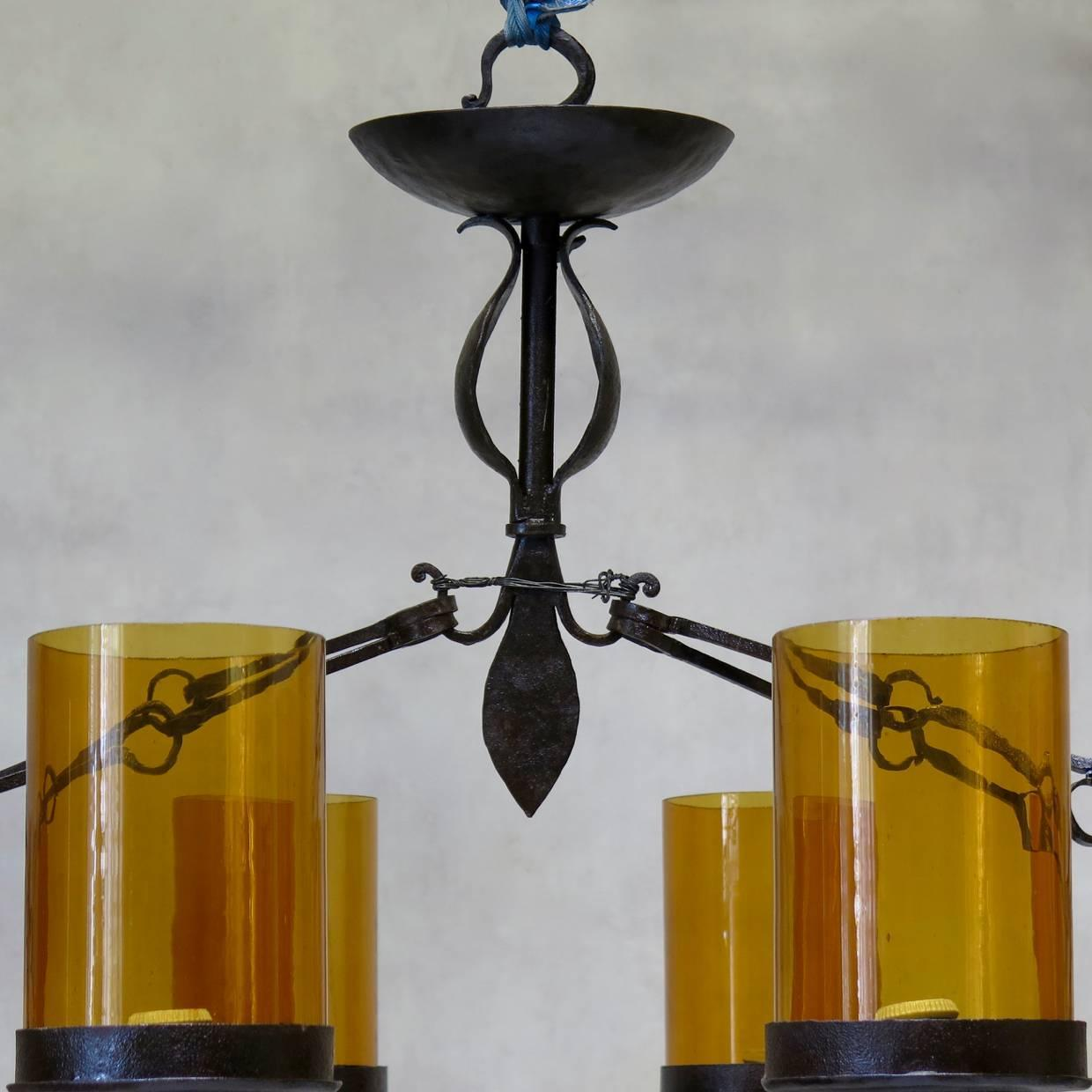 Extra Large Wrought Iron Chandelier Spain Circa 1950s For Sale At 1stdibs