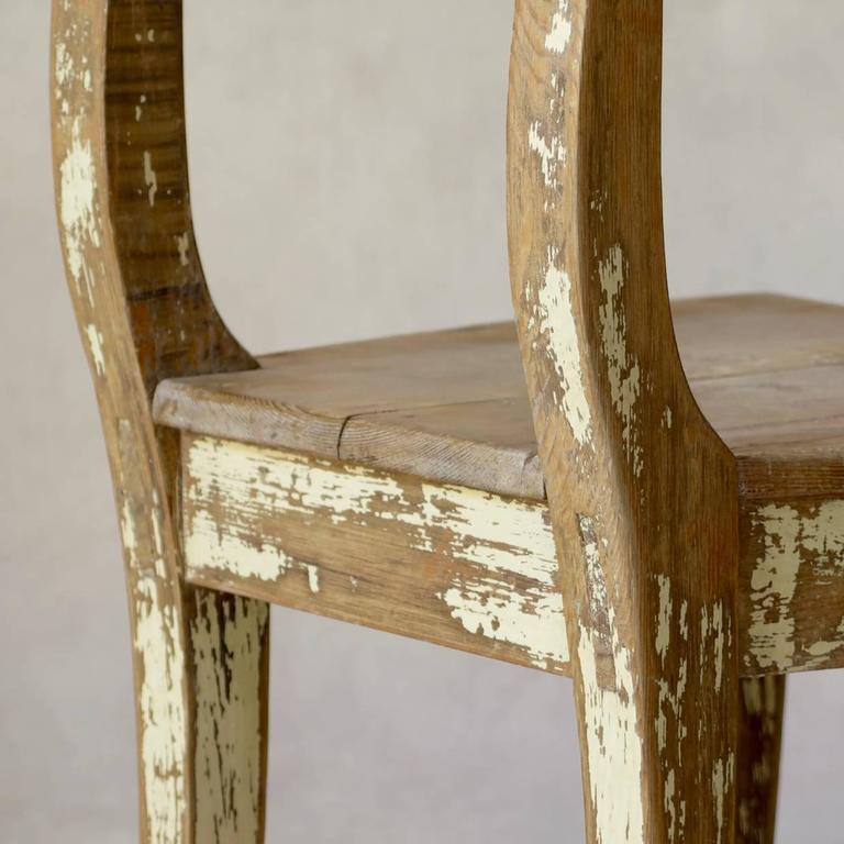 Faux-Pair of Rustic Pine Chairs, France, 19th Century For Sale 4