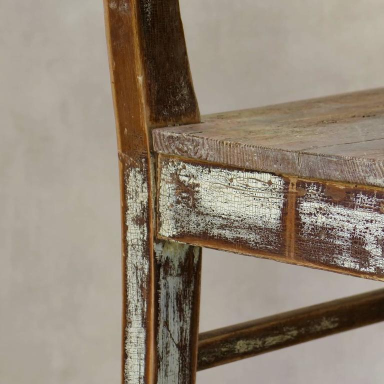 Faux-Pair of Rustic Pine Chairs, France, 19th Century For Sale 2