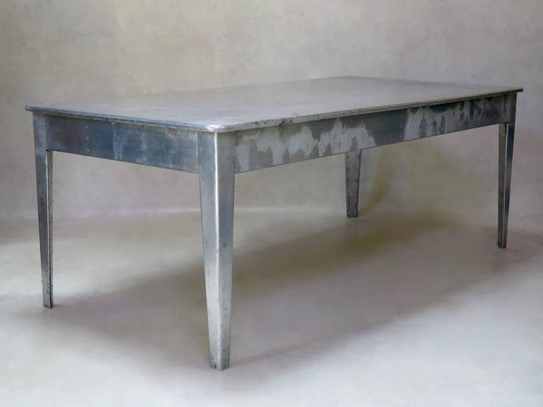Aluminium Dining Table Style Of Prouv France Circa 1940s At 1stdibs