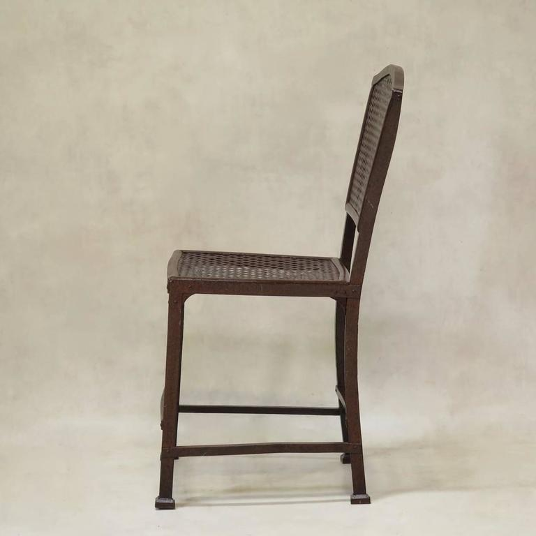 Set Of Three Rothschild Iron Chairs From Arras France