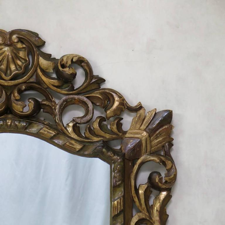 Large Baroque Sculpted Mirror, France, 19th Century For Sale 1