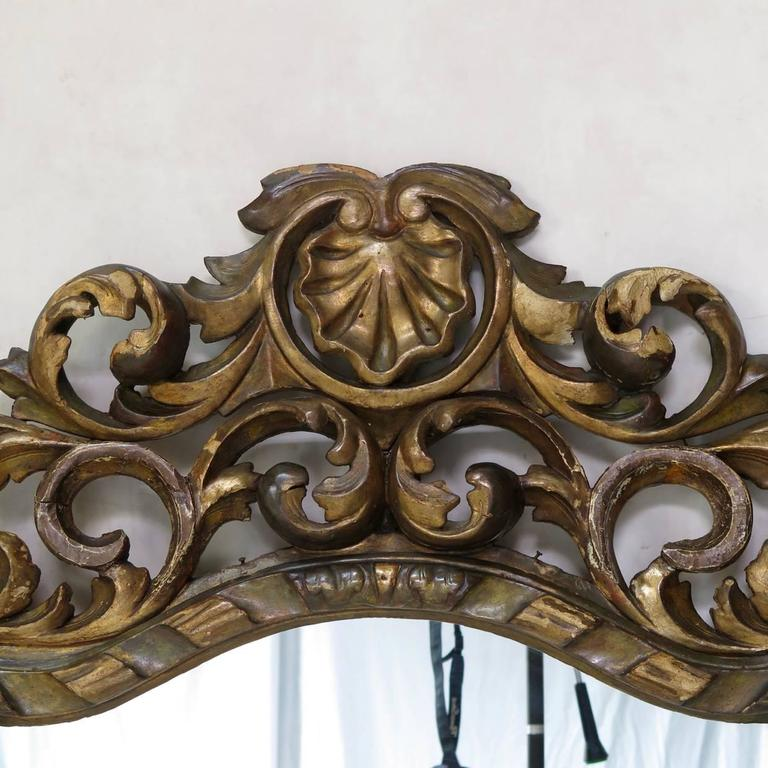 Large Baroque Sculpted Mirror, France, 19th Century In Excellent Condition For Sale In Isle Sur La Sorgue, Vaucluse